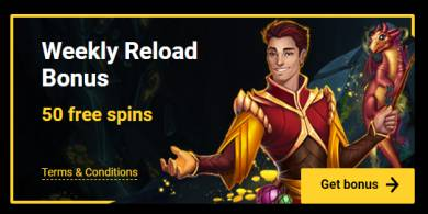 Weekly 50 Free Spins from ZetCasino